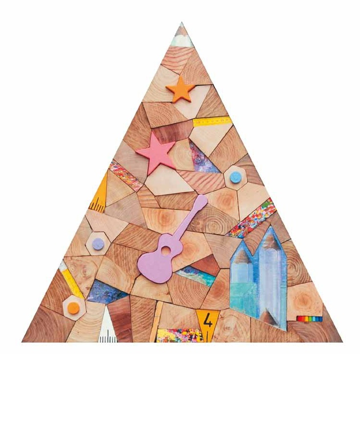 """""""Arte da ardere, triangolo"""" 2010, tecnica mista: legno e acrilico, 69,5x70"""