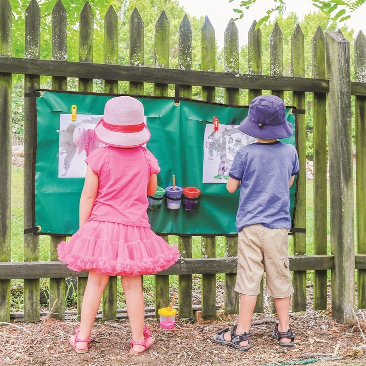 Paint outside with these great Hanging Outdoor Easels!