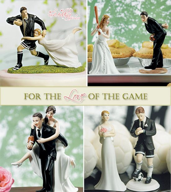 Cake toppers  Sports Themed Weddings | Perrysburg Wedding Planner | Your Perfect Day | Toledo Wedding Planner
