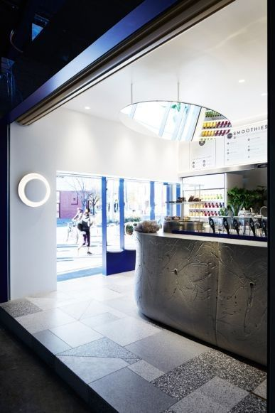 Introducing Happy Place, Melbourne's new juice bar and healthy bowl cafe: A 'selfie mirror' is affixed to the ceiling.