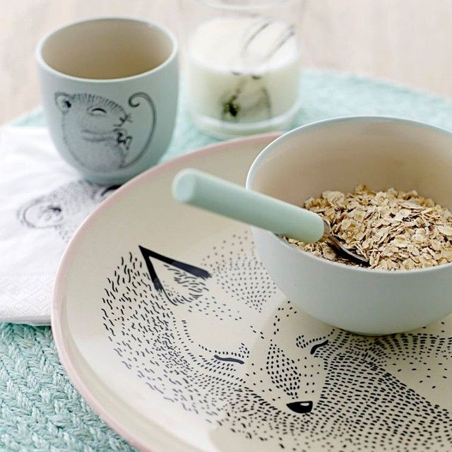 #Breakfast #bloomingville mini collection ware in mint. Pic by Coretty
