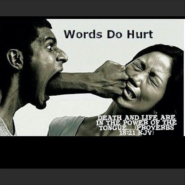 Words Hurt Verbal Abuse Quote 4. Hurtful quotes on PictureQuotes.com.