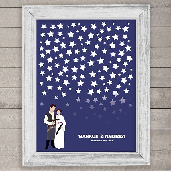 In lieu of a traditional guest book, display this print and have guests each sign a star: