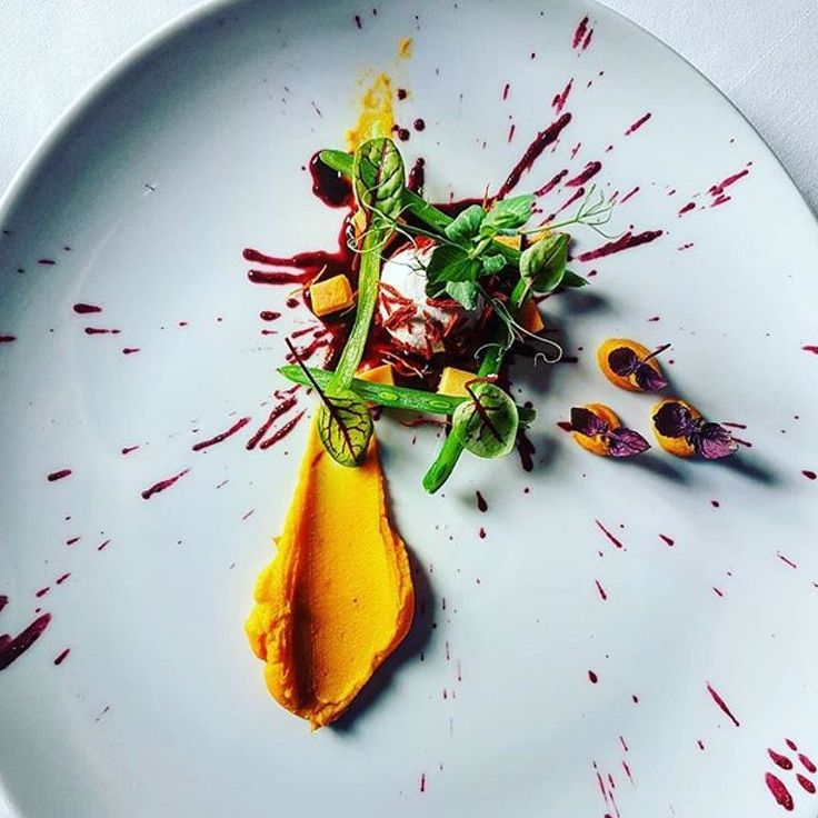 Welcome autumn: Vegetarian amuse geule by @andreas_kirsten. Pumpkin and goat's cheese. Tag your best plating pictures with #armyofchefs to get featured. ------------------------ #foodart #truecooks #foodphoto #chefsroll #chefsofinstagram #foodphotography #foodphotographer #wildchefs #delicious #instafood #instagourmet #theartofplating #gastronomy #foodporn #foodism #foodgasm #plating #pumpkin #autumn #amuse #vegetarian