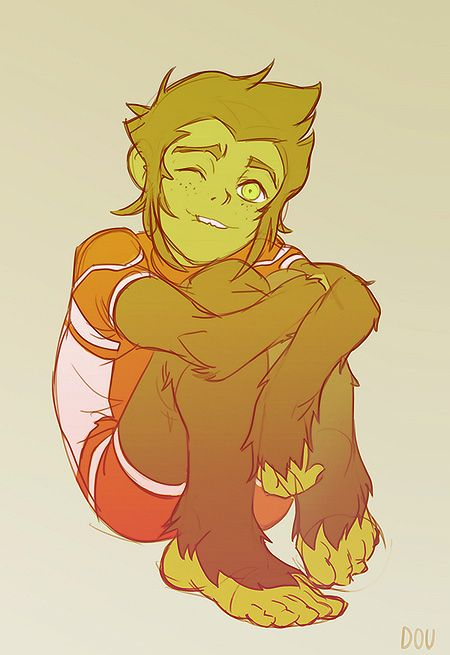 Young Justice: Beast Boy by dou-hong.deviantart.com on @deviantART