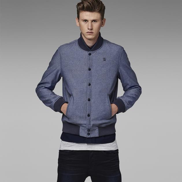 G-Star RAW | Men | Jackets-coats | Salvos Bomber - Raw Denim