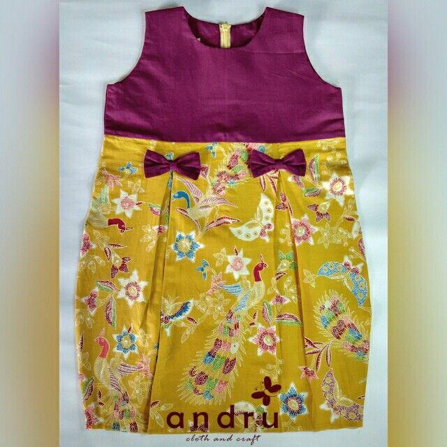 bottle dress batik anak