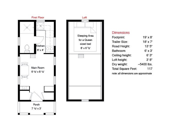 Elm Tiny House Plans Free Tumbleweed Tiny Homes Tiny