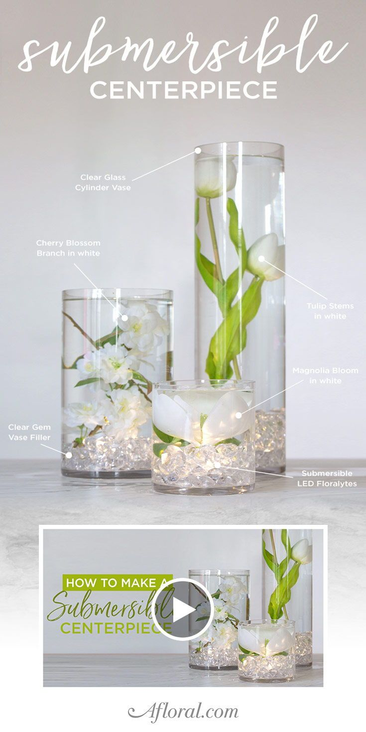 Make Your Own Diverse Submersible Centerpieces Using Artificial