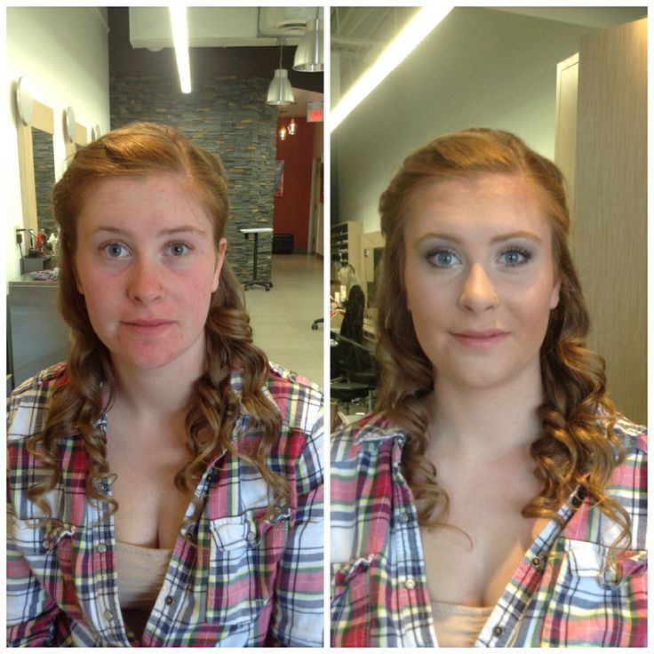 #beforeandafter #prom #makeup done at @Salon Blunt by MUA Alaina using all #aveda