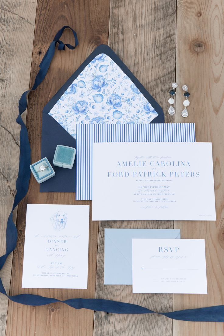 navy blue and kelly green wedding invitations%0A Navy Blue and White Floral Preppy Southern Wedding Invitations