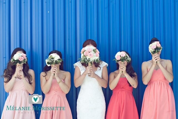 Les demoiselles d'honneur #bridesmaid #pinkwedding #coral