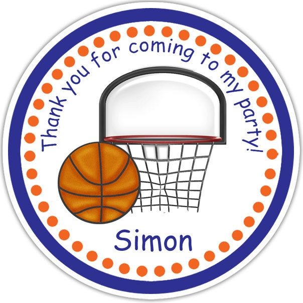 26 best jessie baby images on pinterest basketball baby shower basketball personalized stickers party favor by sharenmoments 600 negle Choice Image