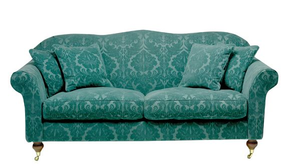 Hinton Sofa In Teal Damask Wesleybarrell Pea Colours Pinterest Colors And Room