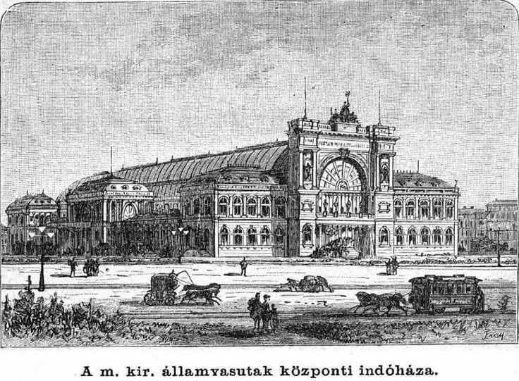 Keleti pályaudvar, rézkarc 1885 körül