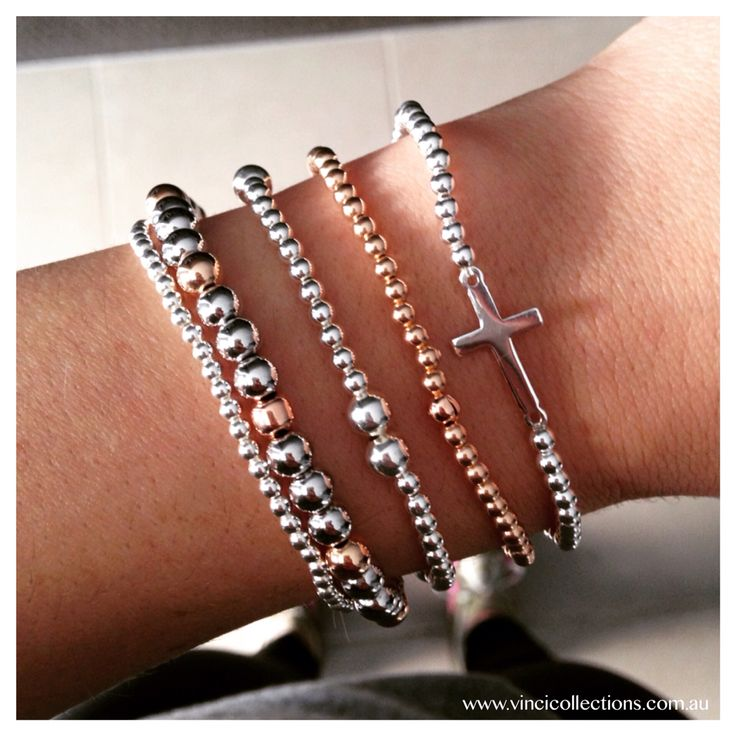 Mixed metal bracelet stack!! Find these little beauties at >> www.vincicollections.com.au VC xo