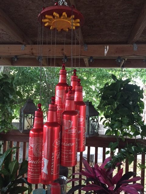 Wind Chime Made From Recycle Aluminum Beer Bottler Beer