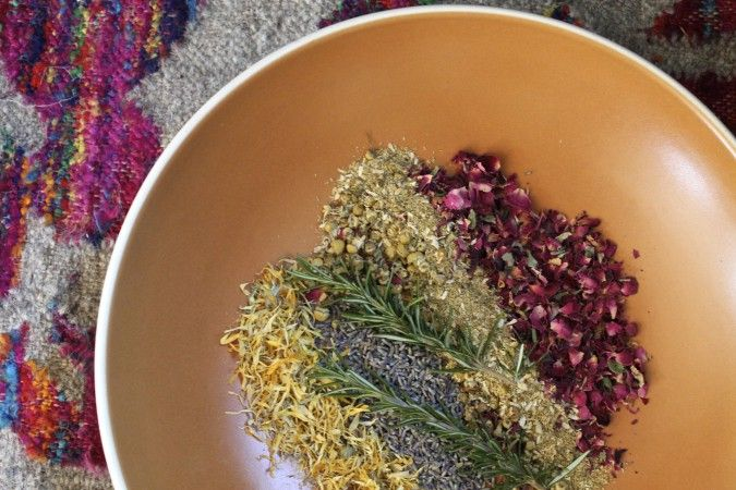 Homemade Yoni Steam to cleanse and heal. This ancient practice has been known to treat painful period cramps, hemorrhoids, pelvic pain, constipation, and even infertility.