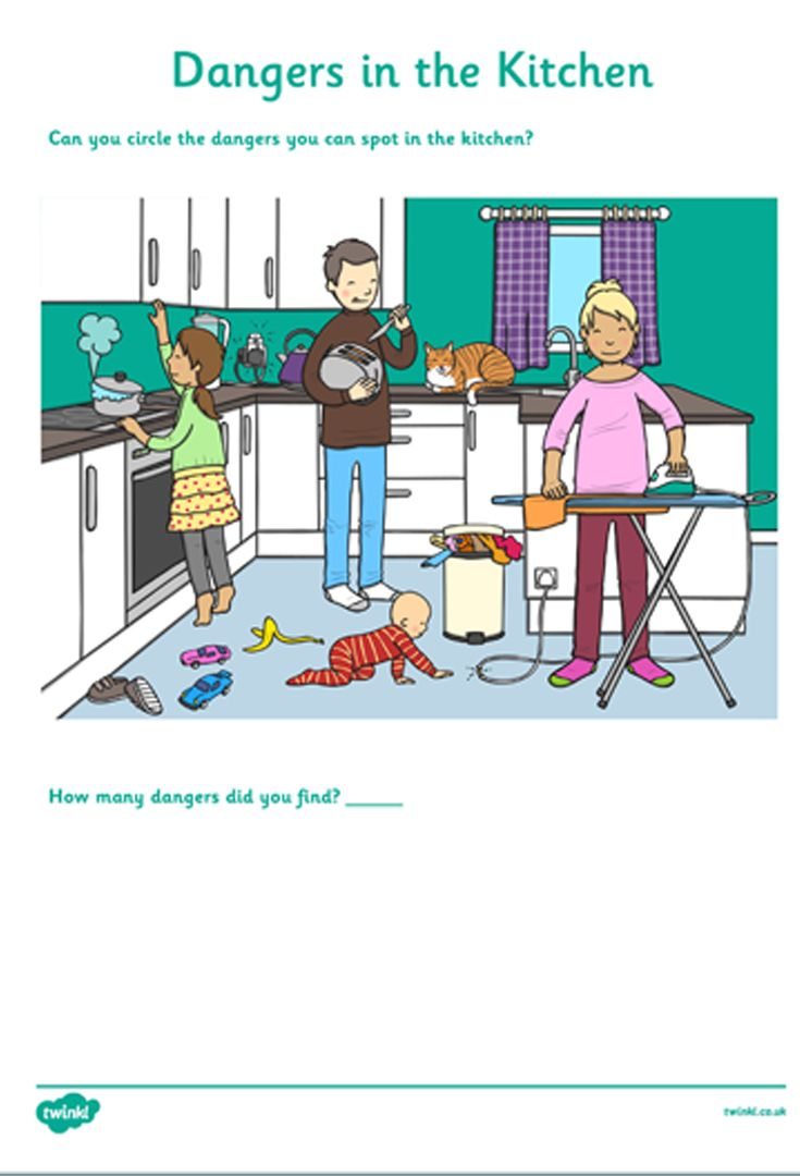Dangers In The Kitchen Worksheet Kitchen Safety Activities Teaching Safety Arts Education Quotes