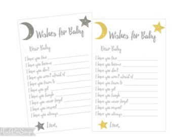 Wishes for Baby Girl Twinkle Twinkle Little by SprinkledDesign