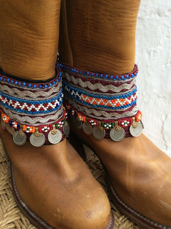 Bohemian boot belts from Ibiza no 10 by AUROBELLE on Etsy