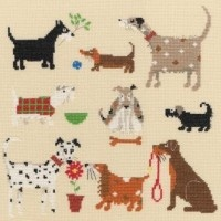 Bothy Threads - Nine Dogs #crossstitch #crossstitching #crossstitchkits #bothythreadscrossstitchkitsThread Kits, Cross Stitch Kits, Crafts Ideas, Counted Cross Stitches, Dogs Crosses, Bothy Thread, Crosses Stitches Kits, Animal Crosses, Counting Crosses