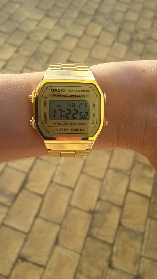 vintage casio gold watch #watchporn