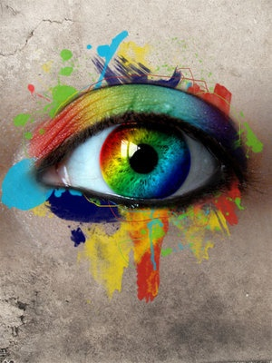 """Rainbow eye - I guess you could call that an """"Iris"""" (someone will get this - oh, how I do love puns!)"""