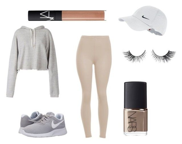 """NUDE BUT GREY"" by dorothablog on Polyvore featuring moda, Faith Connexion, NIKE i NARS Cosmetics"