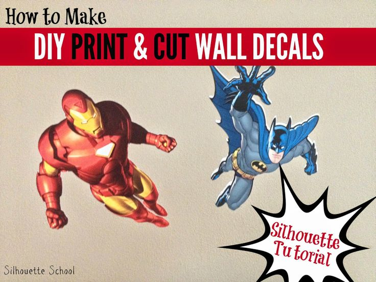Silhouette School DIY Print And Cut Wall Decals Using Square - How to make vinyl wall decals with silhouette