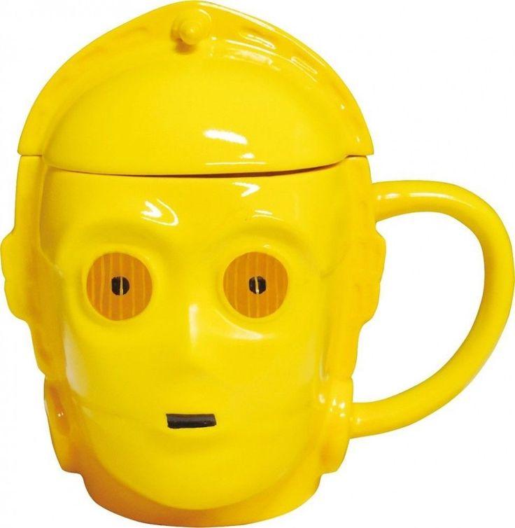 Star Wars 3D Mug with Lid C-3PO SAN2351-2 Gift From Japan Import  NEW F/S #SanArt
