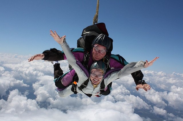 I want to sky dive.  Scare myself silly. Experience something awe inspiring.