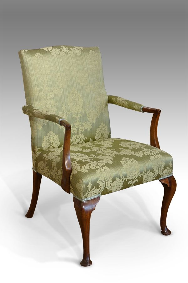 18th C Irish Georgian Carved Armchair Chippendale Manner