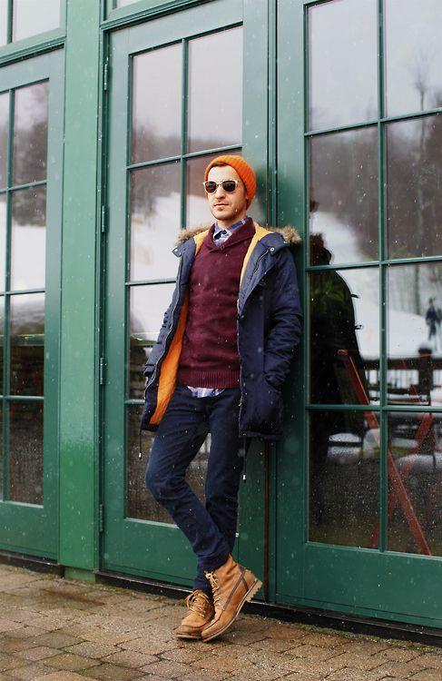 Snowy day in NYC #guyspy #menswear #style