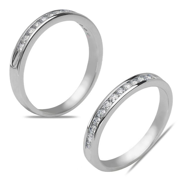 Ebay NissoniJewelry presents - Ladies' 1/7CT Diamond Anniversary Band in 10k White Gold    Model Number:AB7415C-W077    http://www.ebay.com/itm/Ladies-1-7CT-Diamond-Anniversary-Band-in-10k-White-Gold/221630545450