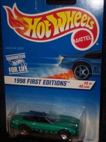Hot Wheels   1998 First Editions   #5 of 40   Jaguar XK8 (Open Top Convertible)   Collector #639   1:64 Scale Collector Car Replica.. #Wheels #First #Editions #Jaguar #(Open #Convertible) #Collector #Scale #Replica.
