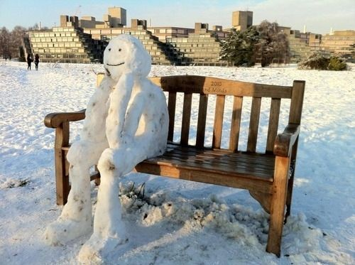 The People-Watcher | Community Post: 40 Creative Snowmen and Other Snow Sculptures