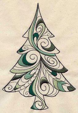 Christmas Tree Zentangle Patterns- Arbol de Navidad, con Zentangle