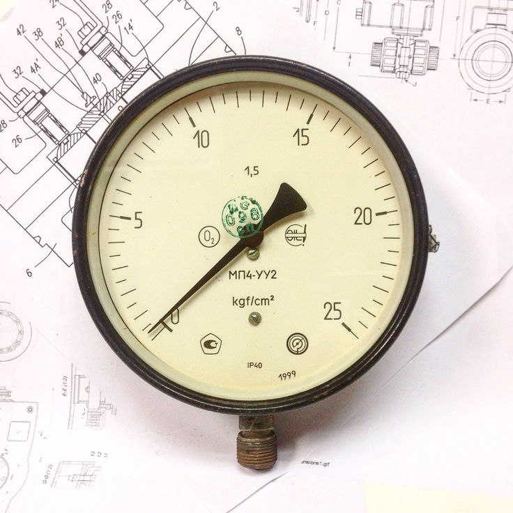 Huge Vintage Pressure Gauge, Steam Gauge, SteamPunk, Industrial Decor by SovietHardware on Etsy