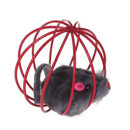 SODIALR Pet Cat Kitten Funny Playing Toy Teal Fake Mouse Mice Rat in Cage Ball * Read more reviews of the product by visiting the link on the image.Note:It is affiliate link to Amazon.
