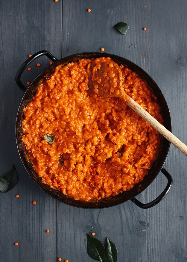 Red Lentil Dhal - a vegan recipe for one of my favorite foods! http://www.lilvienna.com/red-lentil-dhal/