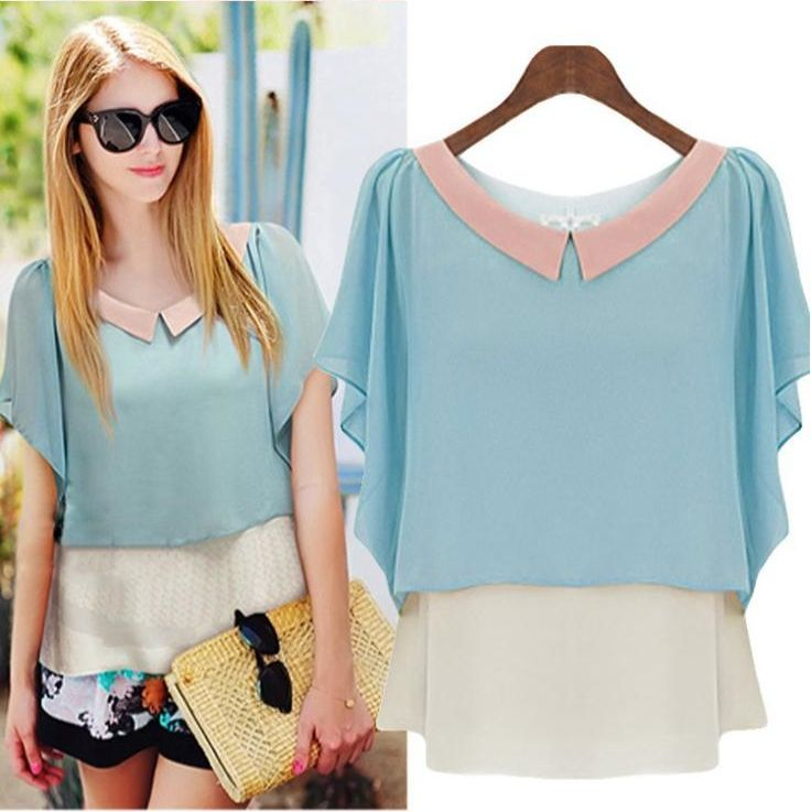 Blue blouse - 12 USD