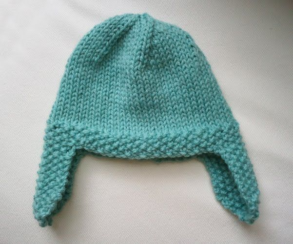 Seed Stitch Ear flap Hat (With images) | Baby hats ...