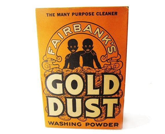 Fairbanks Gold Dust washing products was a line of all-purpose cleaning agents researched and developed in the late 1880s by the Nathaniel Kellogg Fairbank Soap Manufacturing Company. First introduced to the American consumer in 1889, Gold Dust Washing Powder quickly became a success due in large part to its low selling price. The most easily recognized members of the soap line was Gold Dust Washing Powder and Gold Dust Scouring Soap. They were marketed in boxes and containers prominently…