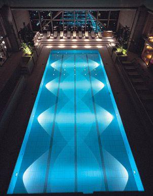 The Park Hyatt Tokyo's sleek, 47th-floor swimming pool has jaw-dropping vistas of Tokyo and even venerable Mount Fuji. (Courtesy Park Hyatt Tokyo)