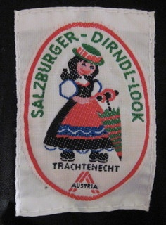 Octoberfest Salzburger Dirndl  German Winter Dress label by wearitsatvintage, via Flickr