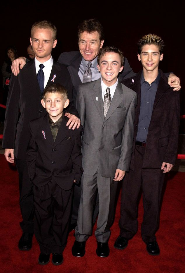 Chris Masterson, Erik Per Sullivan, Bryan Cranston, Frankie Muniz & Justin Berfield from Emmys Cast Flashback The cast of Malcolm in the Middle smiled for the cameras in 2001.