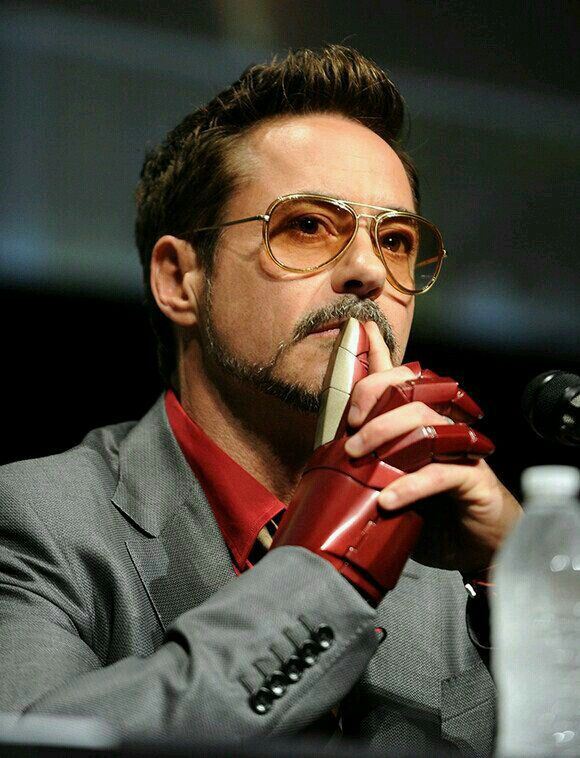 Robert Downey Jr, Tony Stark, Iron Man - at San Diego Comic Con. The best thing I've ever seen at Comic Con was his entrance that year!