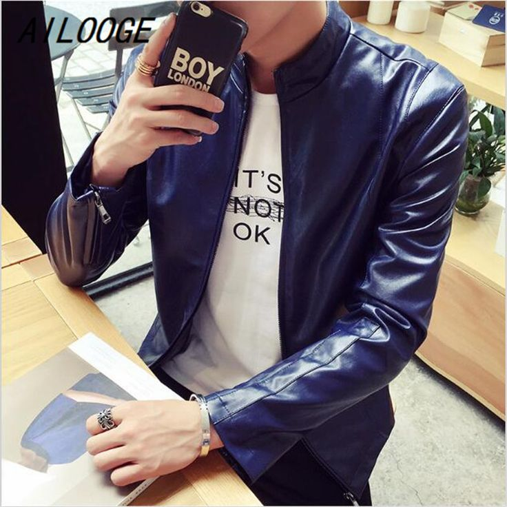 AILOOGE New Arrival 4 Color Mens Leather Suede High Quality Male Leather Jacket Famous Brand Red Leather Jacket Mens China Hot