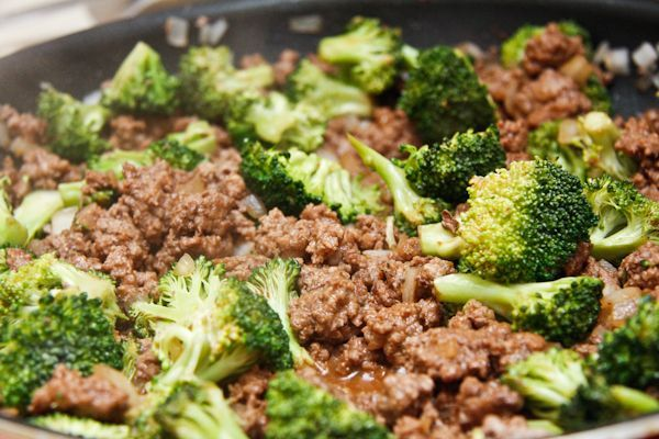 Hamburger beef & broccoli...Had this for dinner tonight ,YUMMY !! I doubled the sauce ingredients( only next time I will only use 3 Tablespoons brown sugar ) it was a little sweeter than we liked .And I also added 1 tsp. of chopped garlic, which the recipe didn't call for. So so good ! And a new way to use ground beef instead of the usual meatloaf and spaghetti .